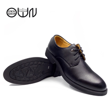 OWNSHOP Men Leather Shoes Pig Leather Black Brown 36 to 48 Mens Large Shoe Flat Business Dress Wedding Shoes