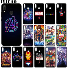 Avengers Endgame Marvel Iron Man Thanos Soft Silicone Case for Huawei Y9 Prime 2019 Cover Honor 20 8X 8 9 9X 10 Lite 7C 7A Pro(China)