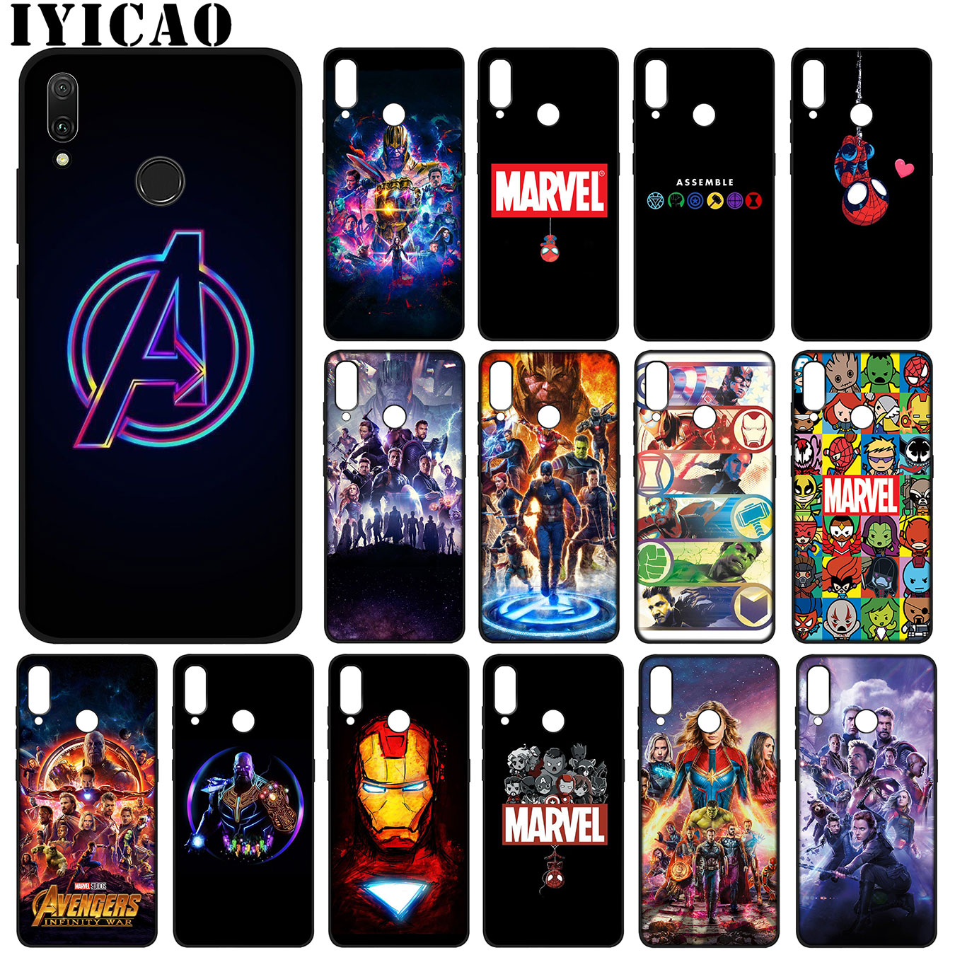 Avengers Endgame Marvel Iron Man Thanos Soft Silicone Case for Huawei Y9 Prime 2019 Cover Honor 20 8X 8 9 9X 10 Lite 7C 7A Pro image
