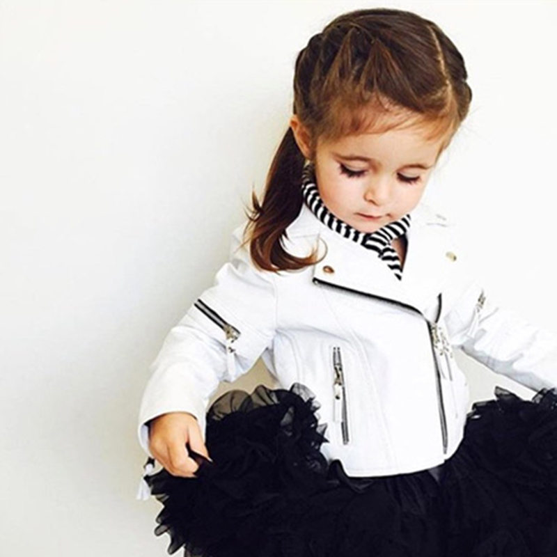 Spring Autumn Zipper Jacket Baby Girls PU Leather Jackets Kids Clothes Children Outerwear Coats For Baby Girls Boys Clothing spring and autumn kids clothes pu leather girls jackets children outwear for baby girls boys zipper clothing coats costume 4 13y