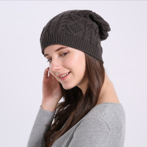 d1387aa018c73d For Women Lady Cap Autumn Winter Outdoor Warm Hat Knitted Cotton Beanie  Hats Set-in Men's Skullies & Beanies from Apparel Accessories on  Aliexpress.com ...