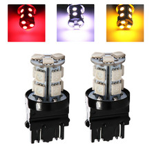 2pcs 3156 3157 White /Red /Amber / Yellow 13 SMD 5050 Stop Tail Brake Signal T25 12V 13 LED Car Light Bulb  Car Light Source