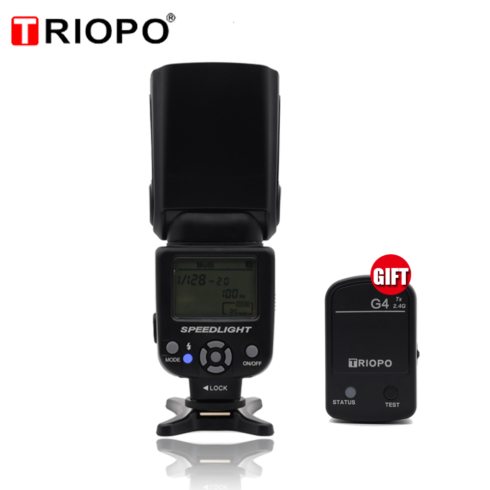 Triopo TR 950II Flash Light Speedlite 2 4G Wireless Transmission Universal For Nikon Canon 650D 550D