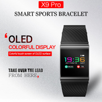 X9 Pro Colorful Screen Smart Wristband Sport Bracelet Heart Rate Tracker Passometer Blood Pressure Watch PK