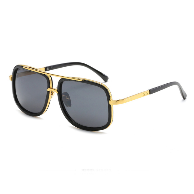 185c95edf80 Mincl Retro big Square frame metal men s sunglasses fashion trend ladies  sun glasses personality leisure vacation glasses YXR