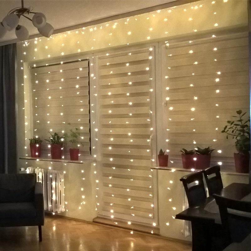 Kaslam Led Vorhang String 5Mx0. 4/0. 6 Mt 4,5 Mt x 3 Mt Girlande 96Led 300Led Led String für Weihnachten Hochzeit Urlaub Lichter