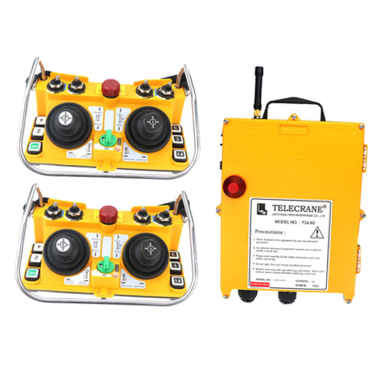 F24-60 for hoist crane 2 transmitter and 1 receiver industrial wireless redio remote control switch switches nice uting ce fcc industrial wireless radio double speed f21 4d remote control 1 transmitter 1 receiver for crane
