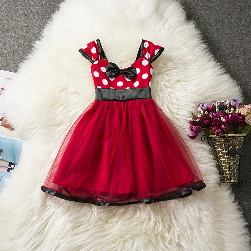 Baby Kids Girls Clothes Dresses For Girl Dot Pattern Red  First Birthday Party Dress 1 2 3 4 5 Years Tutu Toddler Girl Outfits birthday pink tutu dresses 1st newborns baby girl romper tutu dress set toddler infantil roupas de bebe baby clothes nb 24 month