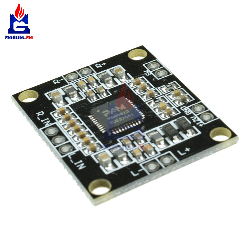 DC 7 -15V Audio Amplifier Board 2 * 15W Power Amplifier Module PAM8610 Digital Dual Channel Stereo Class Module For Arduino