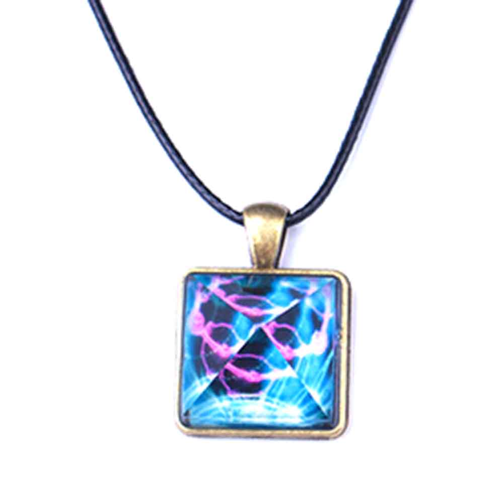 Necklace Fashion Excellent Design Outer Space Star Dust Necklace Magic Glow in the Dark Pyramid Pendant