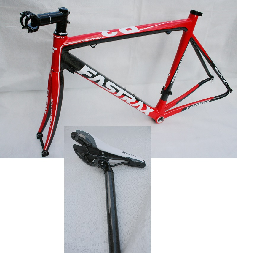 NEW FASTRAX Road Carbon Frame Set With Fork Seat Post Saddle Stem 54CM Racing Bike Frame Carbon Fiber