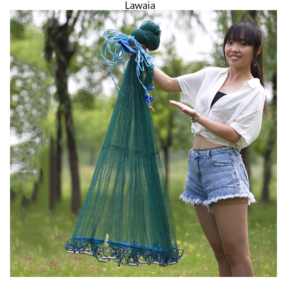 Lawaia Big Fishing Net USA Cast Nets Fly Hand Throw Network Catch Fish Tool