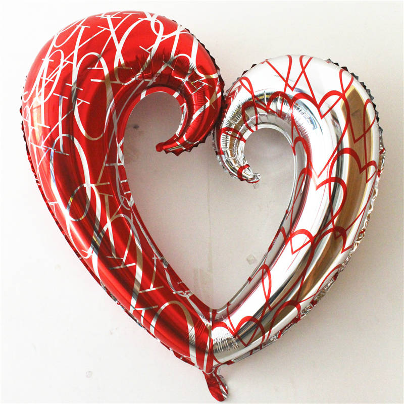The new aluminum balloons heart-shaped balloon toys for children happy birthday balloons party decoration wholesale