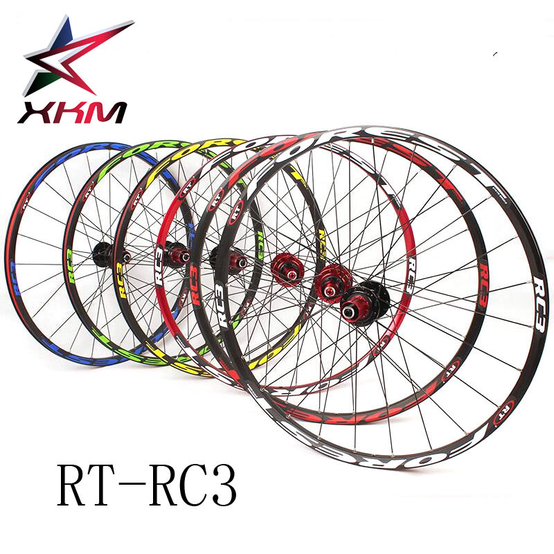 "ultra light  RT RC3 mountain bike wheels mtb 26""/27.5"" 120 clicks 5 peilin sealed bearing disc bicycle wheel wheelset 24 Holes"