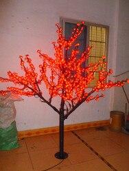 عيد الميلاد السنة الجديدة عطلة حزب حديقة الباحة الأحمر led زهر الكرز شجرة الخفيفة 102 قطع الصمام المصابيح 1.8 متر/و 6ft 110/220vac المعطف