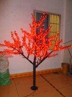 De noël Nouvel an fête de vacances jardin patio rouge LED Cherry Blossom Arbre lumière 102 pcs LED Ampoules 1.8 m/6ft 110/220VAC Étanche À La Pluie