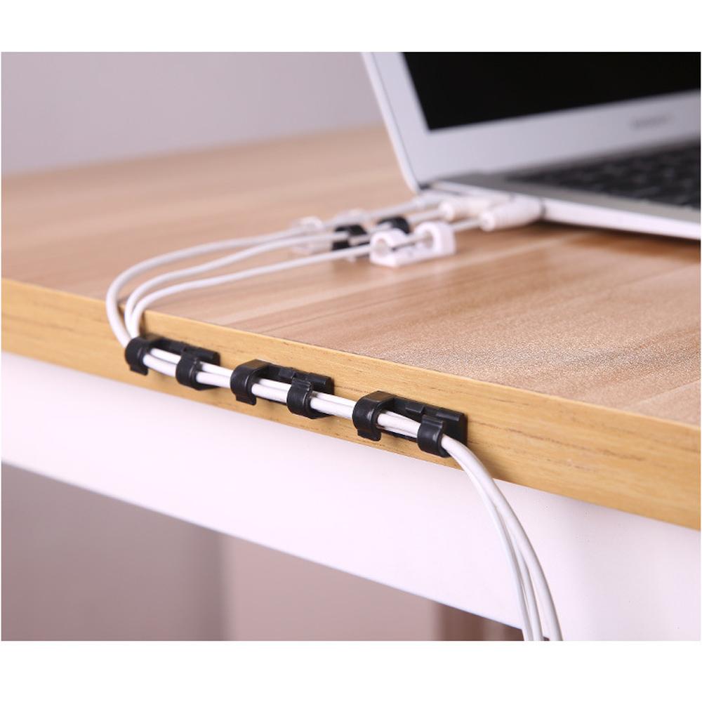 20pcs lot Wire Cable Management Organizer Desktop   Workstation Clips Cord Management Holder USB Charging Data Line