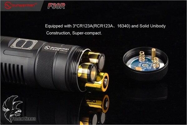 SUNWAYMAN F30R вспышка светильник CREE XM-L2 светодиодный 880 люмен трехцветный светильник мощный фонарь