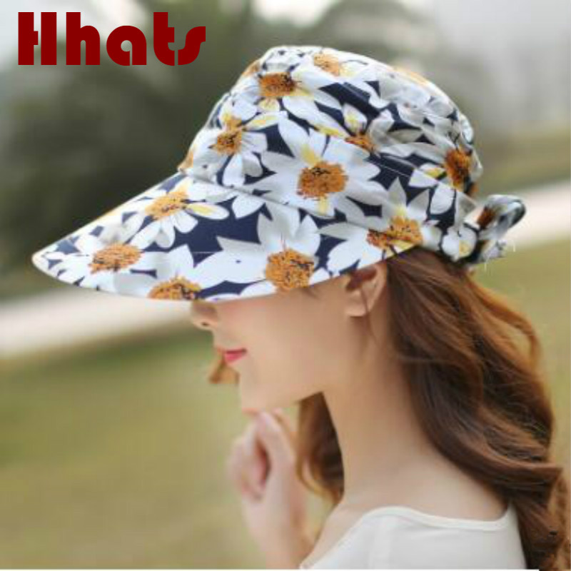 adacb4e5a14dc which in shower fashion floral women summer hat casual removeable flower  female sun hat outdoor sunscreen