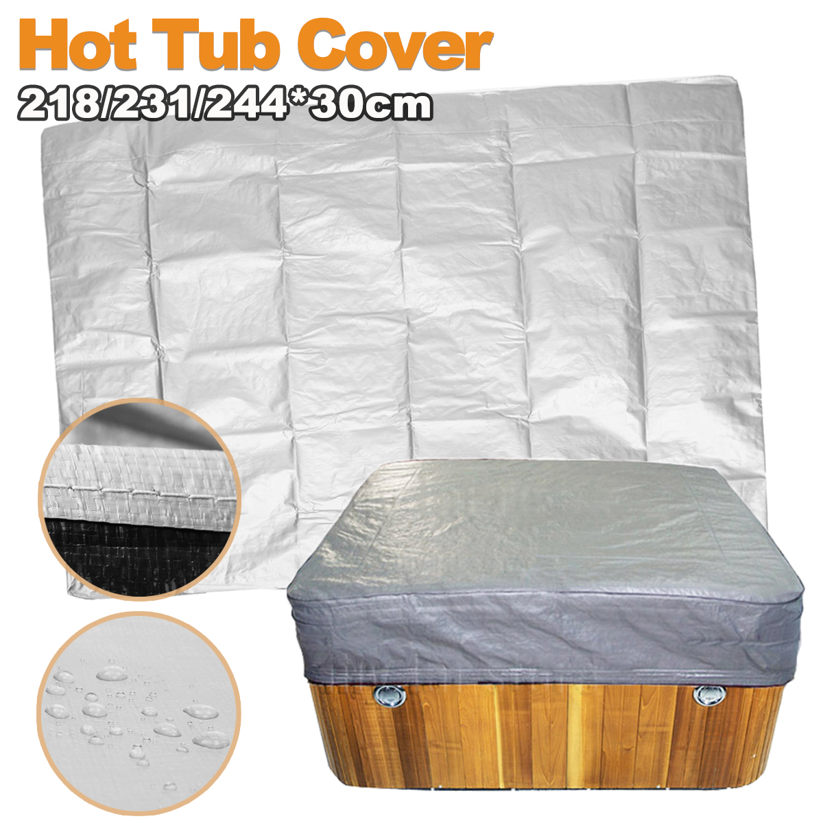 Hot Tub Cover Guard Cap Protect Electrical Insulation Anti-UV Dust Cap Spa Cover
