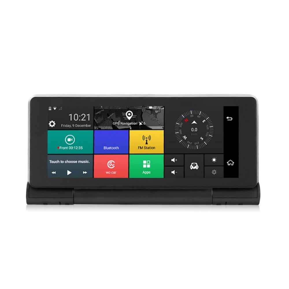 Smart HD Car DVR Camera 3G Android 5.0 GPS Bluetooth Dash Cam Registrar 1080P Video Recorder with Dual Cameras 1080p 3g smart car edgecam with android 5 1 system