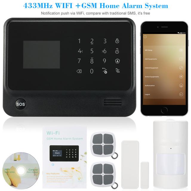 New 2017Safearmed Russian/Spanish/English/French voice WiFi Alarm System Home Security GSM Alarm System