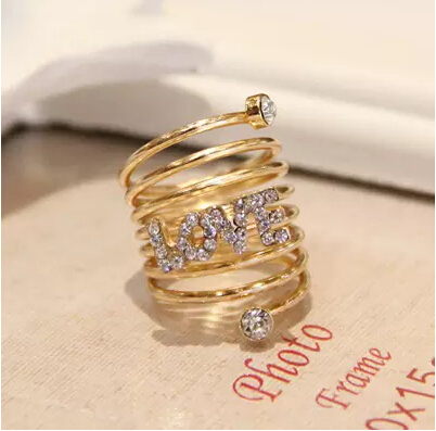 ZOSHI Austria Crystal Rhinestone rings Gold Color finger ring wedding engagement