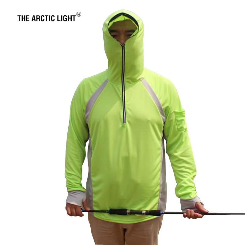 ARCTIC LIGHT Kiváló minőségű, napvédő horgászpóló, kék, sárga, fehér, UV-álló, lélegző, izzadási ruházat