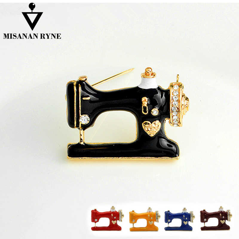 MISANANRYNE 2019 Hot Sale Brooches Women Men  Fashion Jewelry Pins Palace Sewing Machine AAA High Quality Brooches Pins