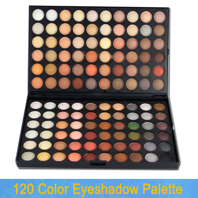 Free Shipping 120 Full Colors Eyeshadow Palette Warm Nude Eye Shadow 04# makeup set 120W