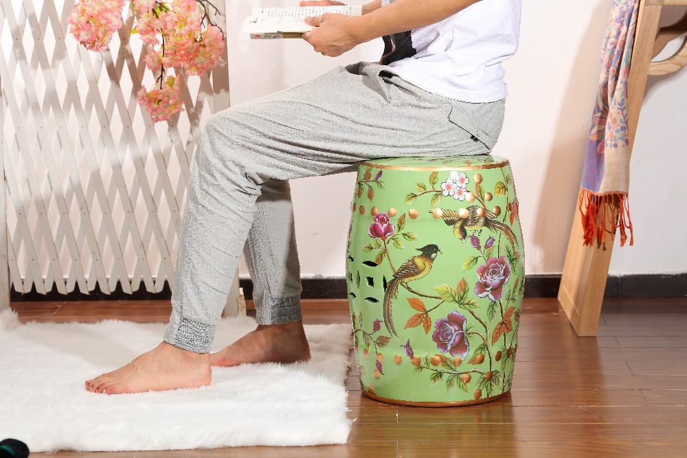 Delicate style excellent quality  home decoration ceramic garden stools цена и фото
