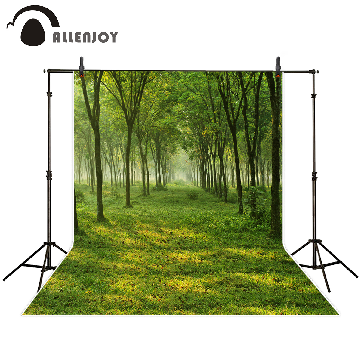 Allenjoy photography background Green forest lawn plants nature scenery backdrop for Photo studio new arrival camera fotografica