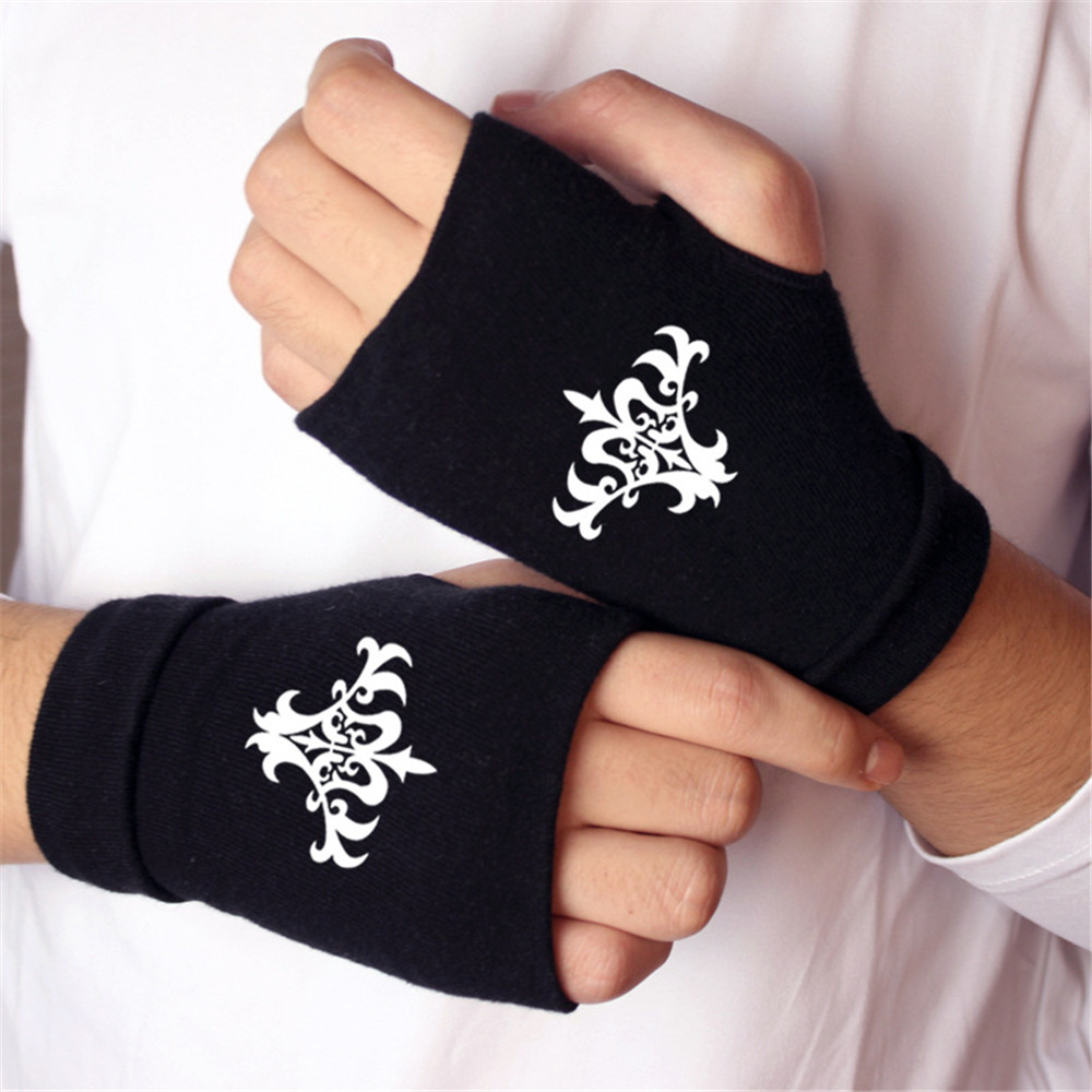 Anime Fate/stay night Finger Cotton Knitting Wrist Gloves Mitten Lovers Anime Accessories Cosplay Fingerless Gift HOT Fashion