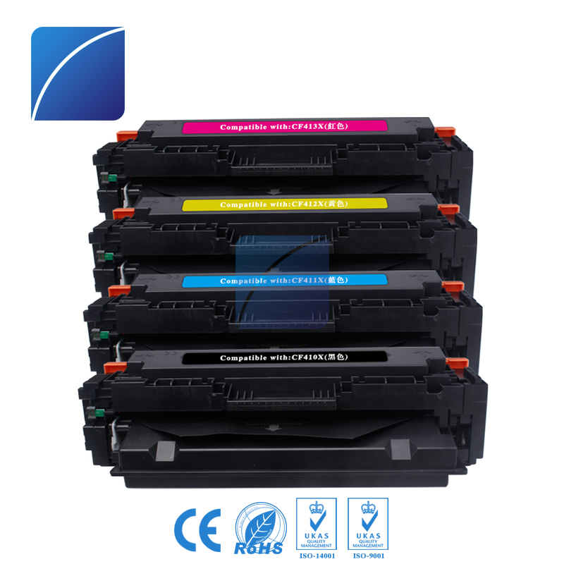 1set 4color 410X CF410X CF411X CF412X CF413X Toner Cartridge Compatible for HP Color LaserJetPro M452dn printer use for hp 4730 toner cartridge toner cartridge for hp color laserjet 4730 printer use for hp toner q6460a q6461a q6462a q6463a