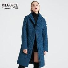 2020 春の女性のパーカーコートウォームジャケット女性薄手のコットンキルティングコート立襟で新コレクションのデザイナー Miegofce