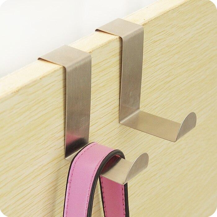 1set Stainless Steel Z Shape Cabinet Clothes Hanger Draw Towel Holder Over Door Hook Home Organizer Kitchen Accessories Rack