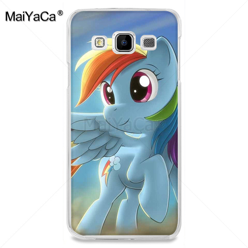MaiYaCa blue pink My Little Pony Rainbow Dash Clouds phone accessories case for samsung A510 A3 A7 A8 A9 note 4 note3 case funda