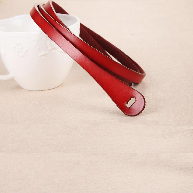 IFENDEI Rouge En Cuir Ceinture Femmes Sans Boucle Vintage Femmes de  Véritable Ceintures En Cuir De Luxe Mince Blanc Taille Sauvage Pour la Robe  jupe cf7589f707a