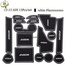 Для Mitsubishi ASX 2013-15 Нескользящие резиновые коврики Авто мотив интерьера ковер ворота Слот автомобиль часть украшения световой двери коврик