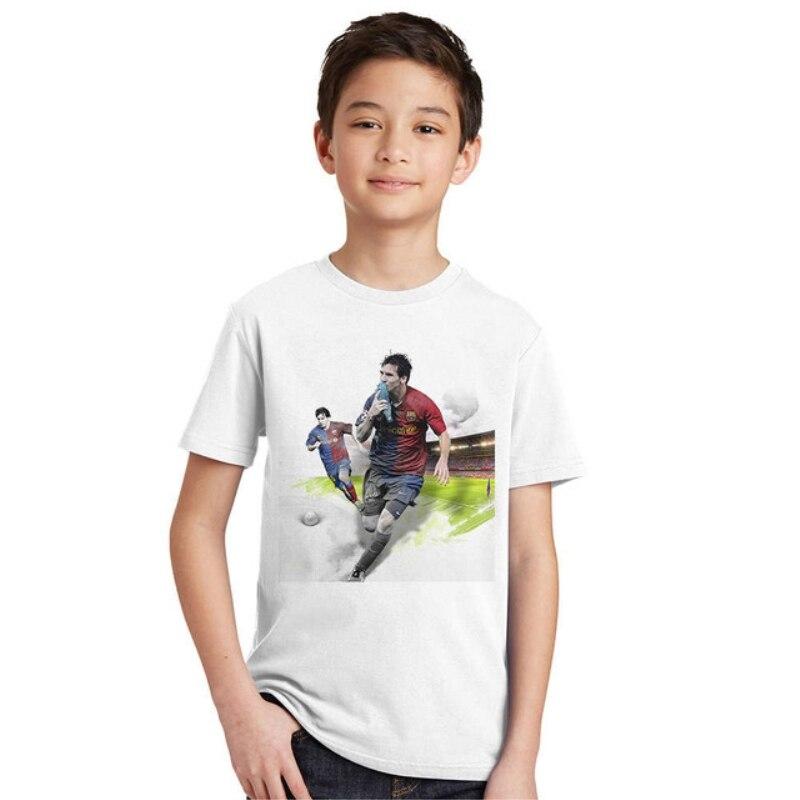 Fashion Kids T-shirts 2017 Summer Sports Short-sleeved Boy Children T-shirt Football Cotton Casual Boys Clothes T shirt Top