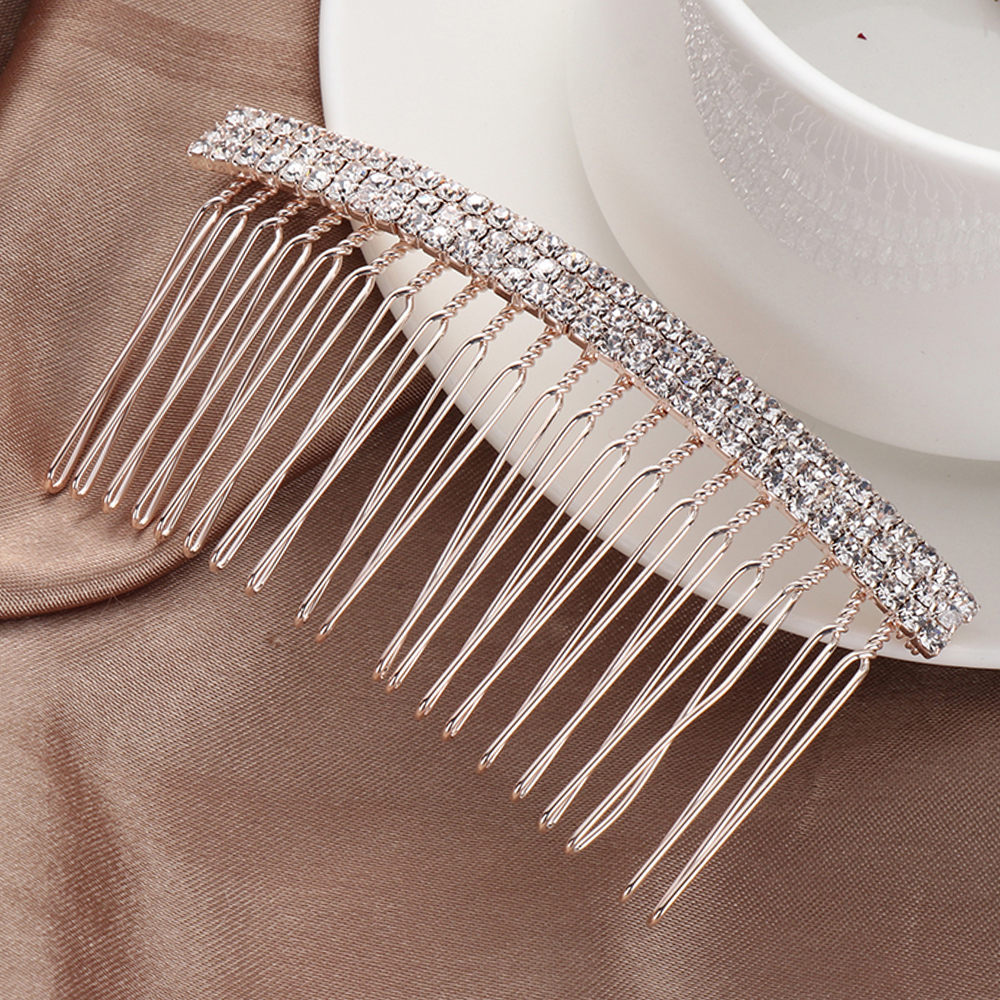 Luxurious Lady Noble Crystal Hair Combs Girls Hair Clips Elegance Hairpins Women Headbands Hair Accessories