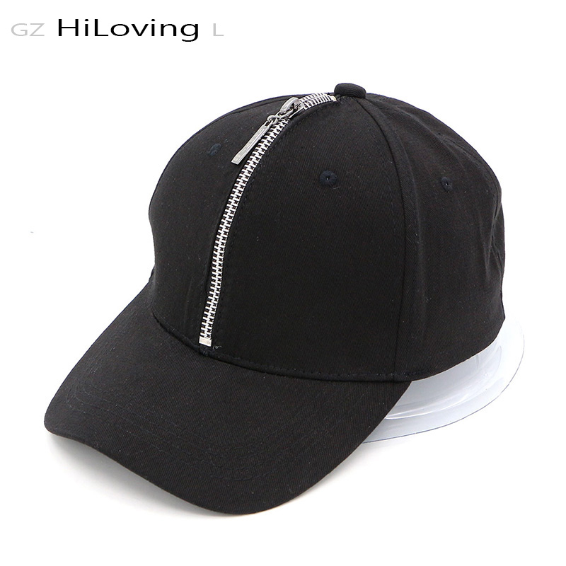 GZHilovingL Summer HiP Hop Punk Baseball Caps Unisex Mens Womens Casual Solid Color Cotton Zipper Cap Gorras Snapback Cap Hats boapt unisex letter embroidery cotton women hat snapback caps men casual hip hop hats summer retro brand baseball cap female