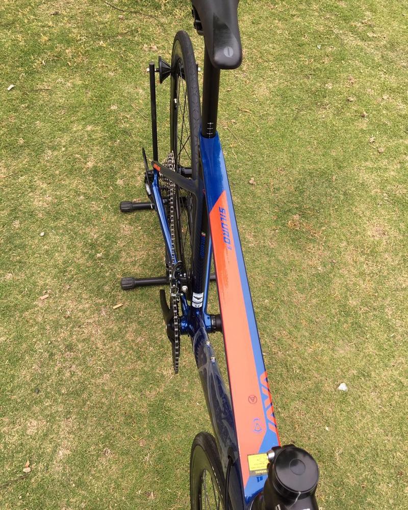 HTB1U1urX4z1gK0jSZSgq6yvwpXam 2019 JAVA Siluro3 Aluminum Alloy Road Bike Double Disc Brake 18 Speed Road Bicycle SORA R3000 Shift System bike Carbon Fork