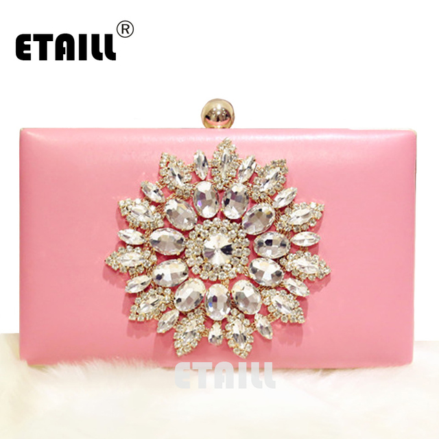 ETAILL Crystal Diamond Famous Designer Luxury Brand Clutches Women Pouch  Soiree Pochette Rhinestone Dinner Party Evening eaae79f4d7d8