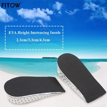 Unisex Height Increasing Orthotics Half Insoles Pad Cushion Taller Male Female Footwear Shoes