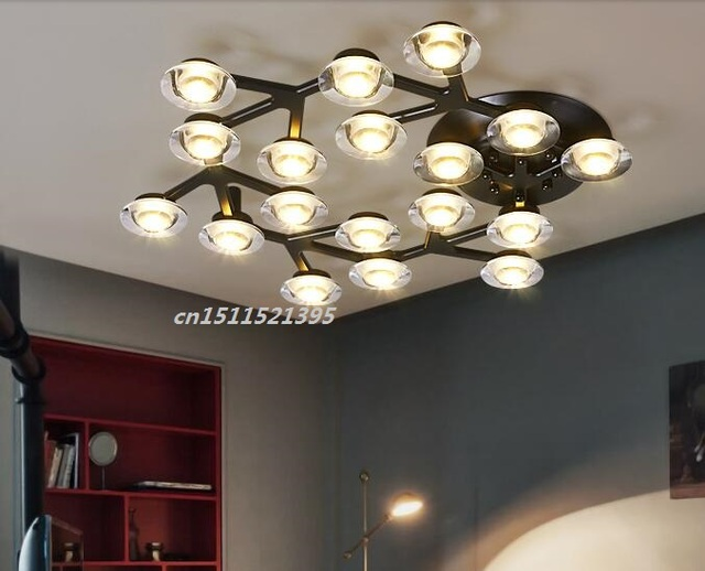 Plum blossom ceiling lamp nordic contemporary sitting room bedroom plum blossom ceiling lamp nordic contemporary sitting room bedroom study led the postmodern artistic ceiling light mozeypictures Images