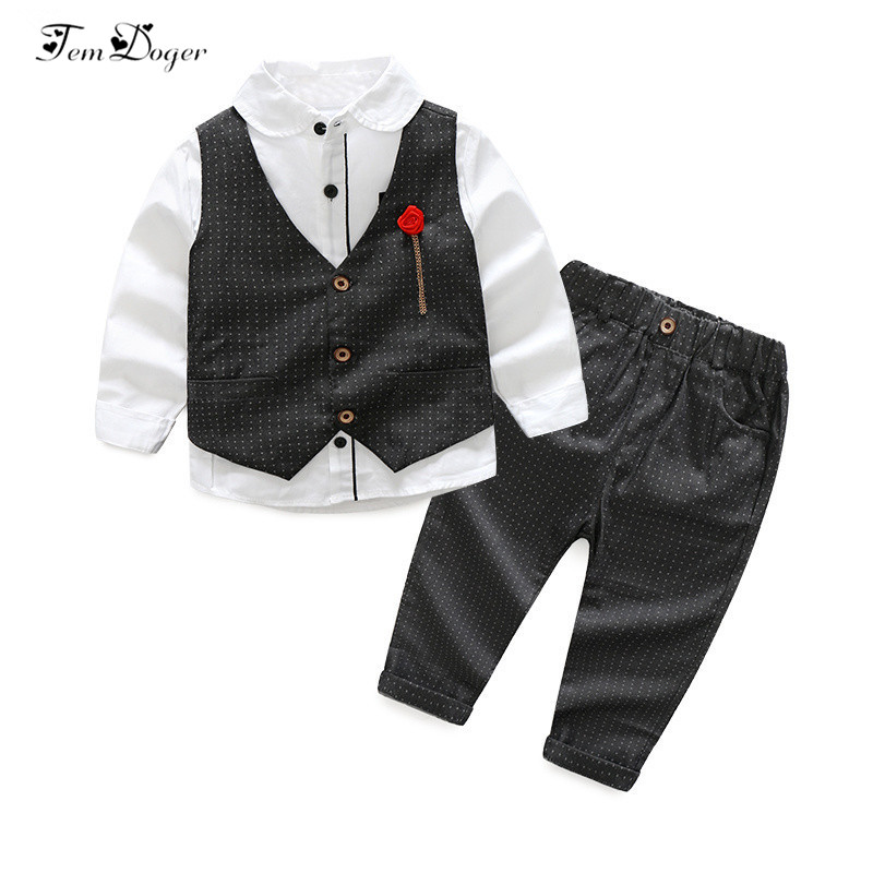 Chic-Chic Kids Toddler Baby Boys Clothing Sets Outfits T-Shirt Long Pants Tracksuit Romper Gentleman Tuxedo Suit
