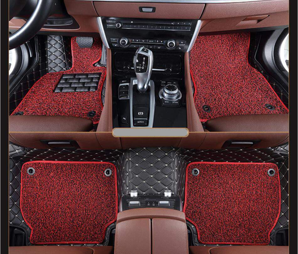 Auto Floor <font><b>Mats</b></font> For <font><b>LEXUS</b></font> RX270 <font><b>RX350</b></font> RX450h 2006-2011 Foot Carpets <font><b>Car</b></font> Step <font><b>Mat</b></font> Brand New Embroidery Leather Wire coil 2 Layer image