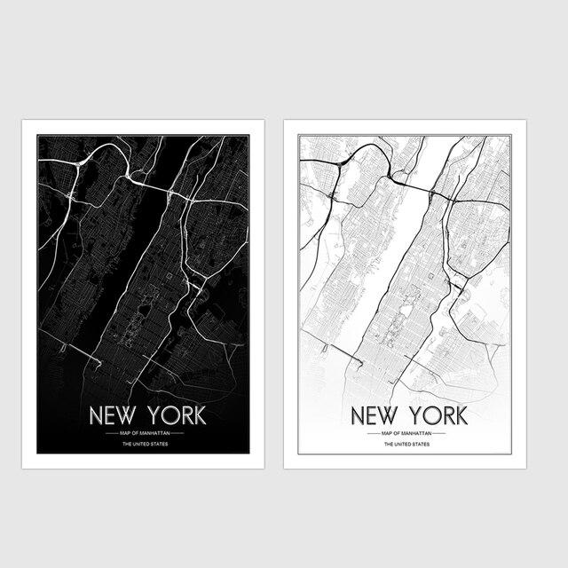 Benutzerdefinierte KARTE Drucken Kreative Nordic Anpassbare New York ...