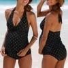 Maternity swimwear Plus Size Maternity Women PolkaDot Print Bikinis Swimsuit Beachwear Pregnant Suit